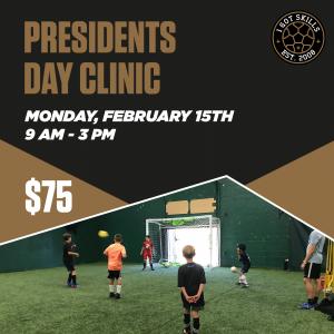 Presidents Day Clinic Soccer Futsal Training